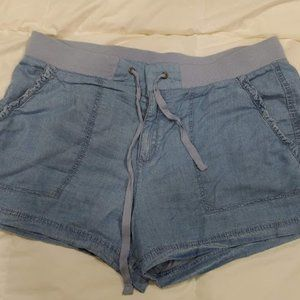 a.n.a brand Blue Drawstring Shorts